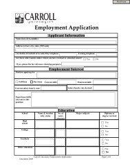 Employment Application - Carroll University