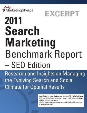 MarketingSherpa 2011 Search Marketing Benchmark Report