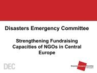 Disasters Emergency Committee - Strengthening Fundraising ...