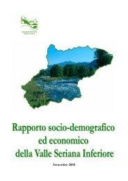 Rapporto socio-demografico ed economico della Valle Seriana ...
