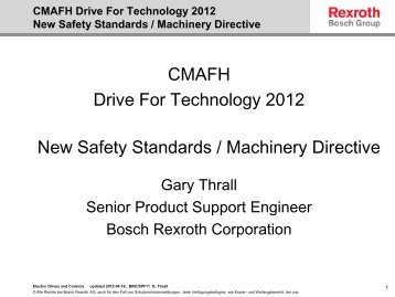 CMAFH Drive For Technology 2012 New Safety Standards ...