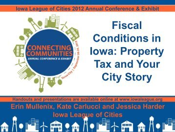 Fiscal Conditions in Iowa: Property Tax and Your City Story