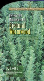 Biology and Management of Biennial Wormwood