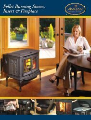 Avalon Pellet Stove Brochure - The Firebird