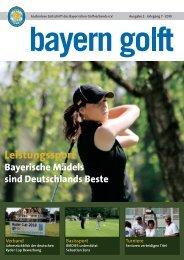 Turniere - Bayerischer Golfverband