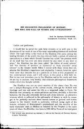 ıBN KHALDUN'S PHILOSOPHY OF HISTORY: THE RISE AND FALL ...