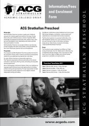 ACG Strathallan Preschool - The Academic Colleges Group