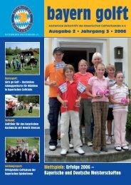 Erfolge 2006 – Bayerische und Deutsche Meisterschaften bayern golft