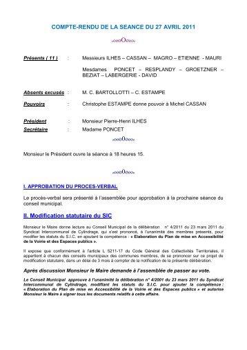 PROCES-VERBAL DE LA SEANCE - La Redorte
