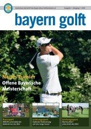 Neues Turnier - Bayerischer Golfverband