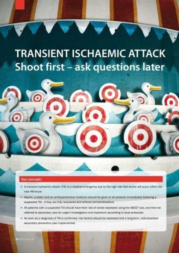 TRANSIENT ISCHAEMIC ATTACK Shoot first – ask ... - Bpac.org.nz