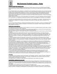 Mid Somerset Football League – Rules - The Football Association