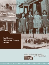15372 JHSUM Annual Report3 - Jewish Historical Society of the ...