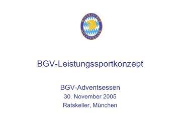 BGV-Leistungssportkonzept - Bayerischer Golfverband