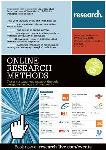 Online Research Methods conference, 27 January 2010
