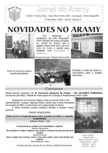Jornal do Aramy - 5ª Edição - Prefeitura Municipal de Porto Alegre
