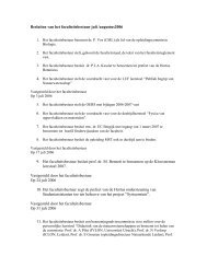 Besluiten van het faculteitsbestuur juli 2006