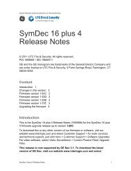 SymDec 16 plus 4 Release Notes - UTCFS Global Security Products