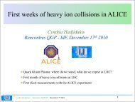 First weeks of heavy ion collisions in ALICE