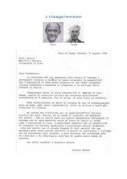 Carteggio tra Enrico Fermi e Avanzi