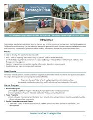 Senior Services Strategic Plan - City Of Ventura
