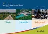 Okolje, energetika in transport v številkah - Statistični urad ...