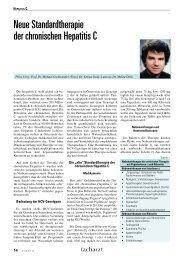 Neue Standardtherapie der chronischen Hepatitis C