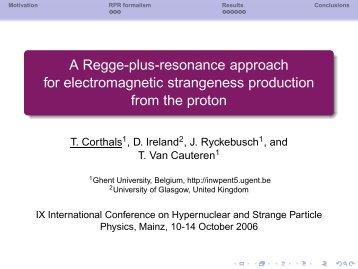 A Regge-plus-resonance approach for electromagnetic strangeness ...