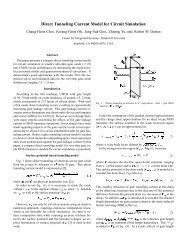 Direct Tunneling Current Model for Circuit Simulation - Stanford ...