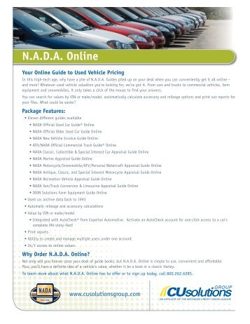 Get the details of our NADA Online Valuations offer here