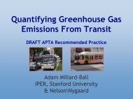 Quantifying Greenhouse Gas Emissions From ... - Rail~Volution