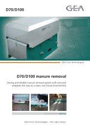 D70/D100 manure removal D70/D100 - Mullerup