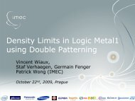 Density Limits in Logic Metal1 using Double Patterning - Sematech