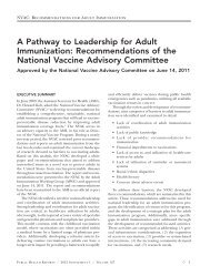 A Pathway to Leadership for Adult Immunization - Public Health ...