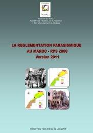 La Réglementation Parasismique au Maroc, RPS 2000