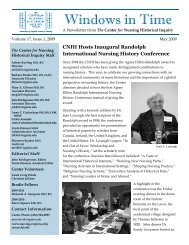 CNHI_2009 MayNL .pub - School of Nursing - University of Virginia