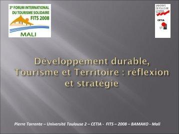 Diapositive 1 - Le tourisme solidaire