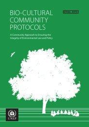 BIO-CULTURAL COMMUNITY PROTOCOLS - UNEP