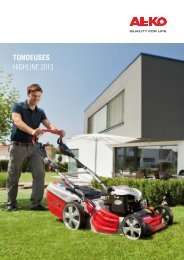 Tondeuses highline 2013 - AL-KO Garten + Hobby