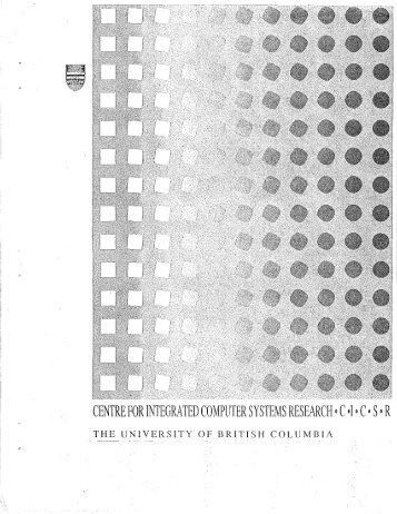 cicsr-tr94-005 - ICICS - University of British Columbia