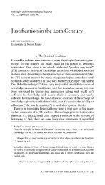 Justification in the Twentieth Century - Andrew M. Bailey