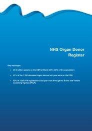 Section 12 - NHS Organ Donor Register - Organ Donation