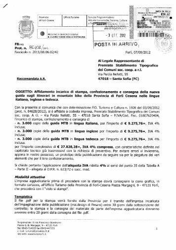 5. Schede itinerari F.to A4 - Allegato E - Provincia di Forlì-Cesena