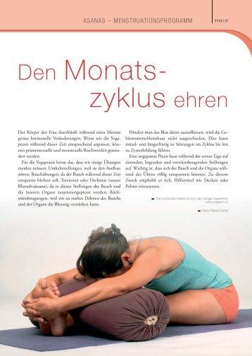 Den Monatszyklus ehren - YOGA! Das Magazin