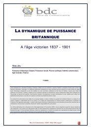 La dynamique de la puissance britannique pendant l'âge victorien ...