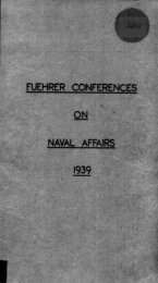 Fuehrer conference on naval affairs 1939