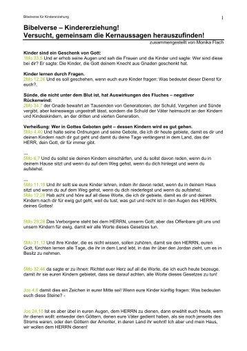 Bibelverse – Kindererziehung! Versucht ... - Kingdom Impact