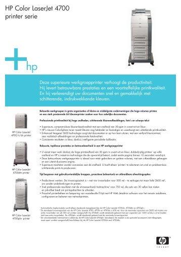 HP Color LaserJet 4700 printer serie - OSN Nederland BV
