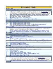 2008 Academic Calendar