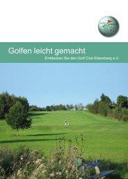 Golfen leicht gemacht - GCE - Golf Club Ebersberg eV